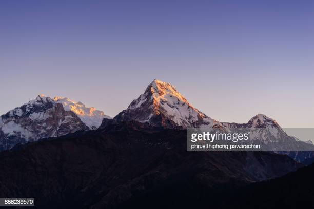 Annapurna south peak from poon hill.