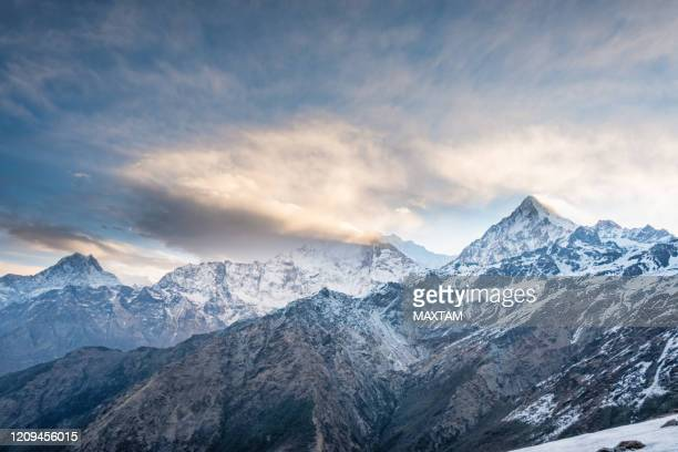annapurna south peak - annapurna south stock pictures, royalty-free photos & images