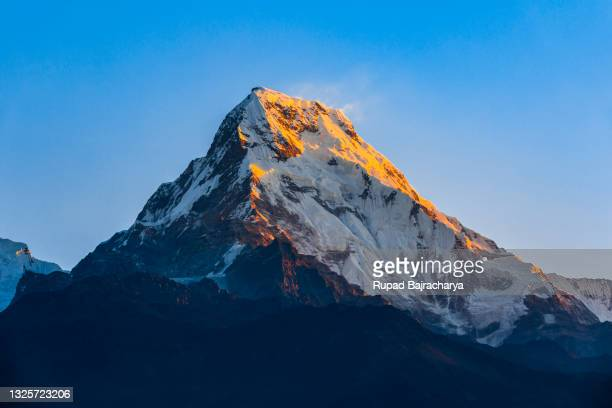 annapurna south - annapurna south stock pictures, royalty-free photos & images