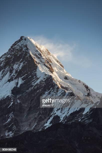 Annapurna South Sonnenaufgang Nahaufnahme