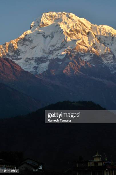 Annapurna South, view from Ghandruk Village