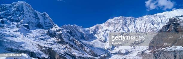 Annapurna South with glacier Annapurna Conservation Area Nepal Asia.
