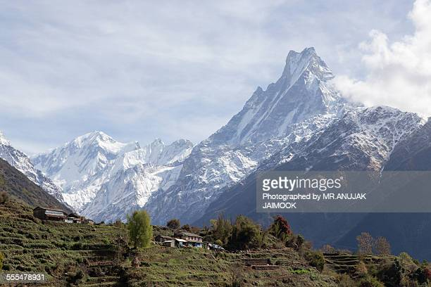 annapurna train, nepal - annapurna conservation area stock photos and pictures
