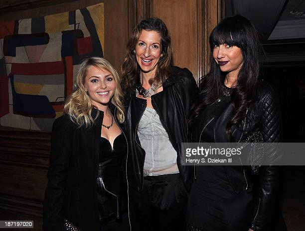 AnnaSophia Robb Alysia Reiner and Jackie Cruz attend The Cinema Society Dior Beauty screening of Thor The Dark World after party at Marlton Hotel on...