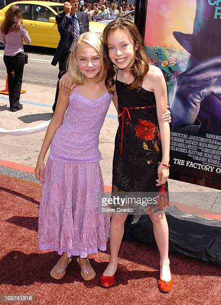 Annasophia Robb and Julia Winter during 'Charlie and the Chocolate Factory' Los Angeles Premiere Arrivals at Chinese Theatre in Hollywood California...
