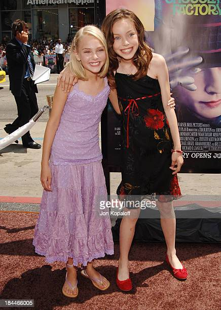 Annasophia Robb and Julia Winter during 'Charlie and the Chocolate Factory' Los Angeles Premiere Arrivals at Grauman's Chinese Theater in Hollywood...