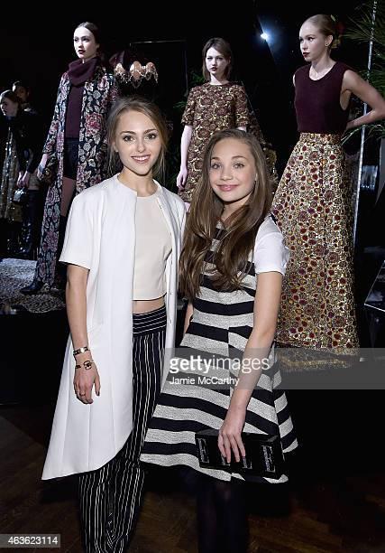 AnnaSophia Robb and Maddie Ziegler attend the Alice Olivia presentation during MercedesBenz Fashion Week Fall 2015 on February 16 2015 in New York...