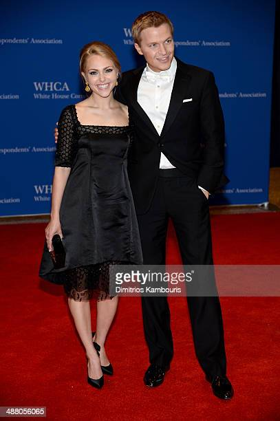 AnnaSophia Robb and Ronan Farrow attend the 100th Annual White House Correspondents' Association Dinner at the Washington Hilton on May 3 2014 in...