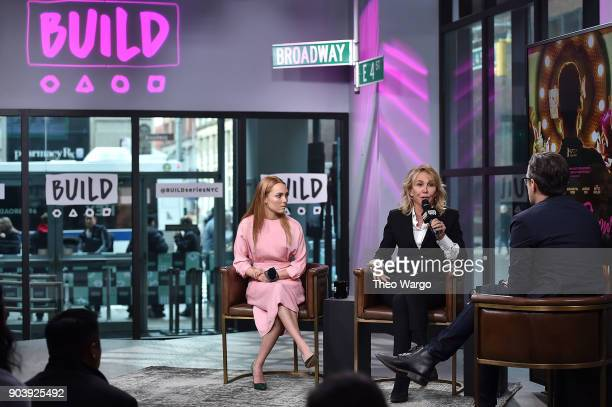 AnnaSophia Robb and Trudie Styler promote the movie 'Freakshow' at Build Studio on January 11 2018 in New York City
