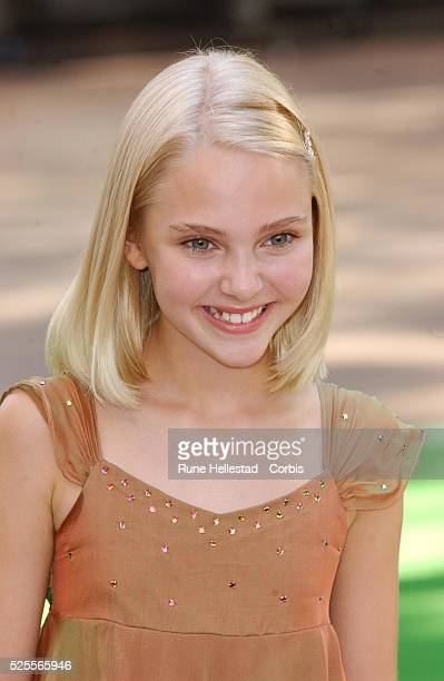 Annasophia Robb arrives for the premiere of Charlie and the Chocolate Factory in Leicester Square
