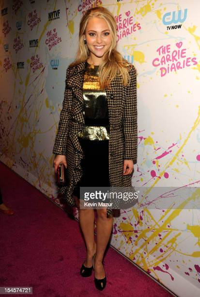 AnnaSophia Robb arrives to the red carpet world premiere of The Carrie Diaries at the New York Television Festival at SVA Theater on October 22 2012...