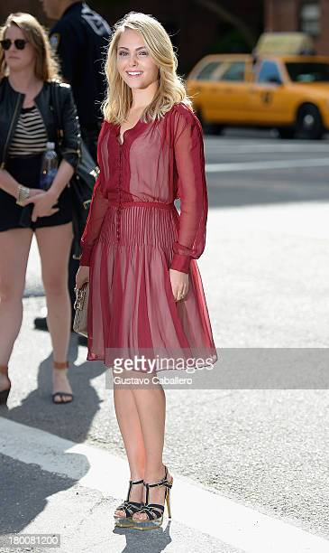 AnnaSophia Robb attends day 4 of MercedesBenz Fashion Week Spring 2014 at Lincoln Center for the Performing Arts on September 8 2013 in New York City