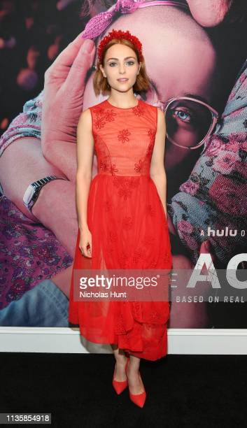 AnnaSophia Robb attends Hulu's The Act New York Premiere at The Whitby Hotel on March 14 2019 in New York City