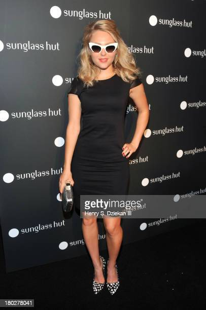 AnnaSophia Robb attends Sunglass Hut Times Square Store Opening Hosted by Georgia May Jagger at Sunglass Hut Times Square on September 10 2013 in New...
