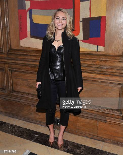 AnnaSophia Robb attends The Cinema Society Dior Beauty screening of 'Thor The Dark World' after party at Marlton Hotel on November 6 2013 in New York...