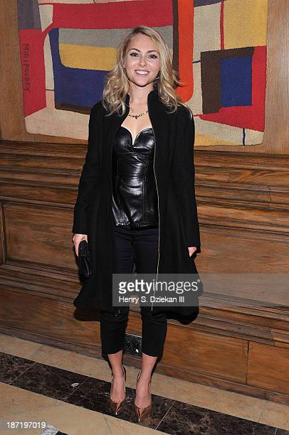 AnnaSophia Robb attends The Cinema Society Dior Beauty screening of Thor The Dark World after party at Marlton Hotel on November 6 2013 in New York...
