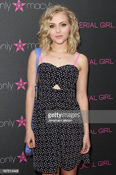 AnnaSophia Robb attends the Madonna's Fashion Evolution PopUp Exhibition In Conjunction With The Pop Star's Material Girl Clothing Line At Macy's at...