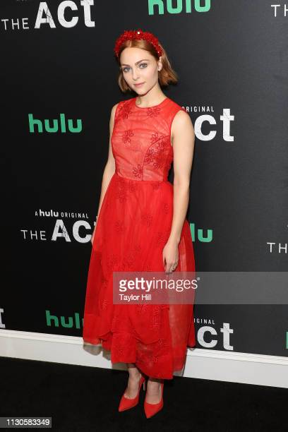 AnnaSophia Robb attends the premiere of Hulu's The Act at The Whitby Hotel on March 14 2019 in New York City