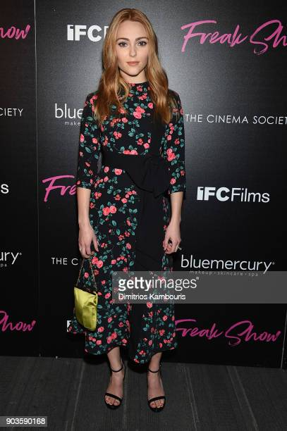 AnnaSophia Robb attends the premiere of IFC Films' 'Freak Show' hosted by The Cinema Society at Landmark Sunshine Cinema on January 10 2018 in New...