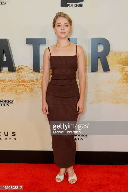 """AnnaSophia Robb attends the """"Stillwater"""" New York Premiere at Rose Theater, Jazz at Lincoln Center on July 26, 2021 in New York City."""