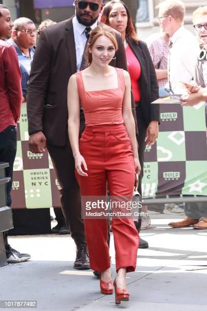 AnnaSophia Robb is seen on August 16 2018 in New York City