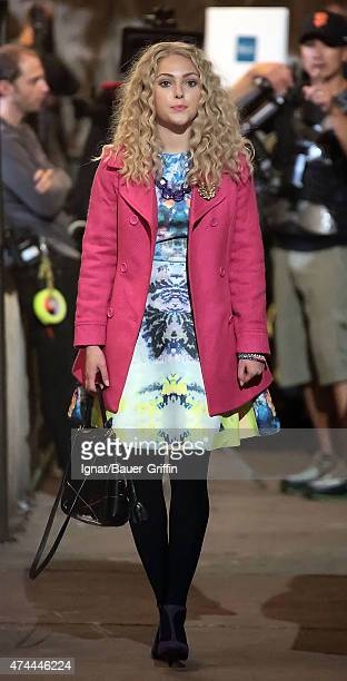 AnnaSophia Robb is seen on the movie set of The Carrie Diaries on October 27 2012 in New York City