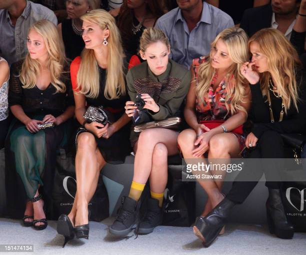 AnnaSophia Robb, Paris Hilton, Corey Kennedy, Ali Wise, and Rachel Zoe attend the Charlotte Ronson SS13 Show at The Stage at Lincoln Center on...