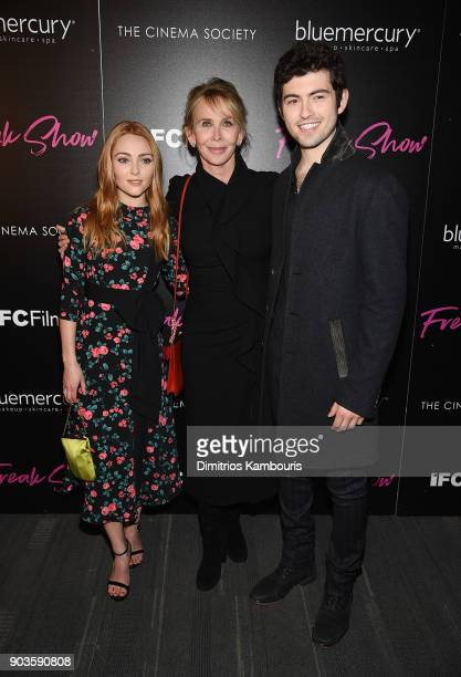 AnnaSophia Robb Trudie Styler and Ian Nelson attend the premiere of IFC Films' 'Freak Show' hosted by The Cinema Society at Landmark Sunshine Cinema...