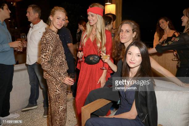 AnnaSophie Mungenast Sofia Edetoft a guest and Monika Borowska attend the Bodrum EDITION opening of the 2019 season on May 17 2019 in Bodrum Turkey