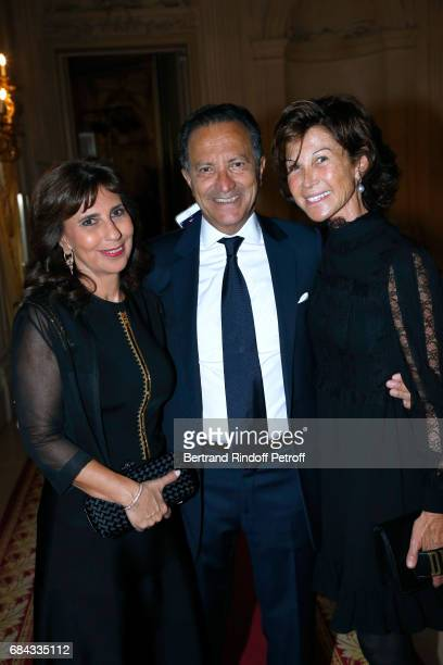 Anne Accignac her husband Pierre Accignac and Sylvie Rousseau attend the 'Vaincre Le Cancer' Gala 30th Anniverary at Cercle de l'Union Interalliee on...