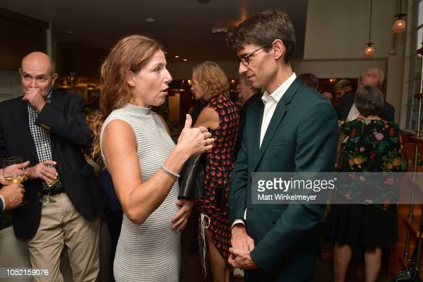 Anne Anderson and Nicholas Thompson attend VIP Dinner For WIRED's 25th Anniversary Hosted By Nicholas Thompson And Anna Wintour at Tartine...