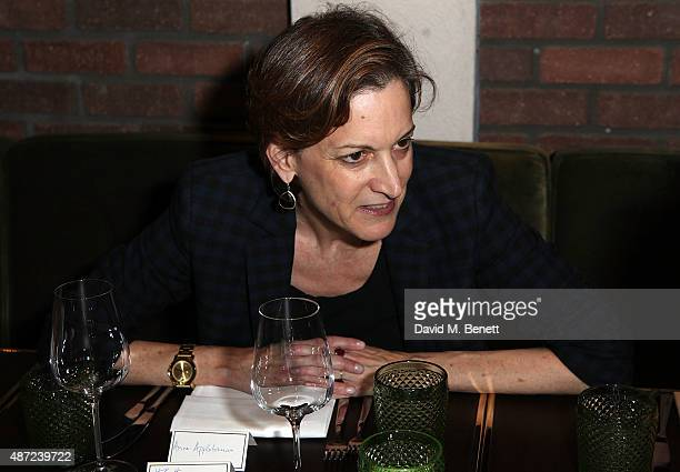 Anne Applebaum attends a private dinner hosted by Porter Magazine editor Lucy Yeomans for writer Amanda Foreman at Sackville's Bar Grill on September...