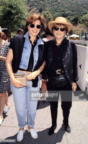 Anne Archer and Marjorie Lord during '95 Pediatric Aids Foundation Annual Picnic at Private Home in Los Angeles California United States