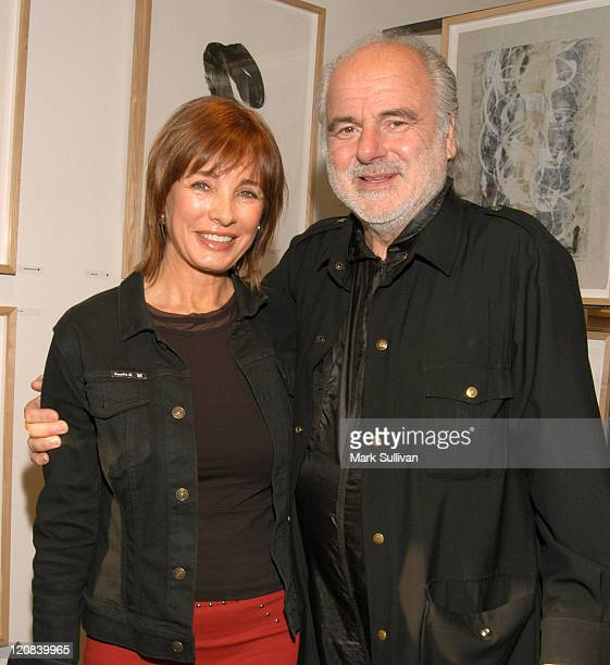 Anne Archer and Milton Katselas during Gala Opening of Milton Katselas' 'Spacial Motion Monotypes' Exhibit Inside at Gallery 258 in Beverly Hills...