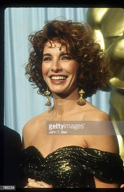 Anne Archer poses for a picture March 25 1991 at the Academy Awards in Los Angeles California Archer is an Oscar nominated actress for her role in...
