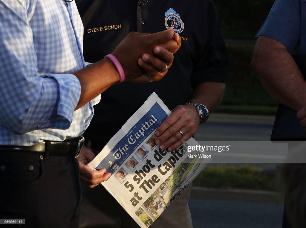 At Least 5 Killed In Shooting At Annapolis Capital-Gazette  Newspaper : Foto jornalística