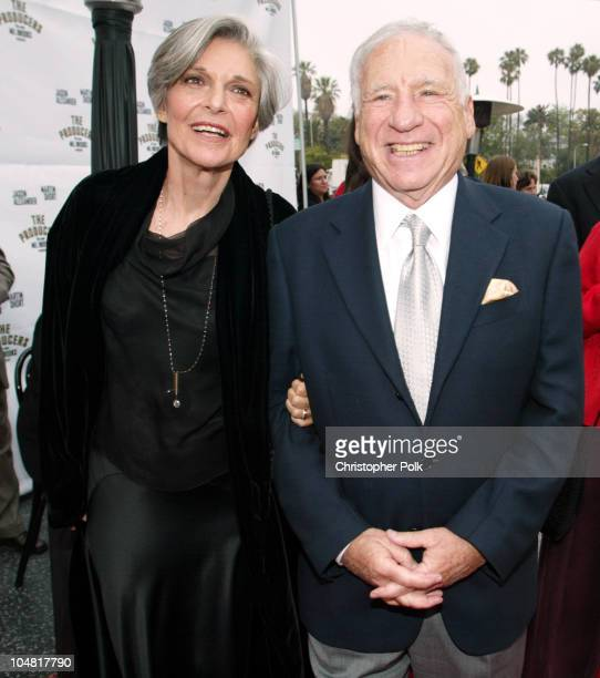 Anne Bancroft and Mel Brooks during Opening Night of The Producers at Pantages Theatre in Hollywood California United States