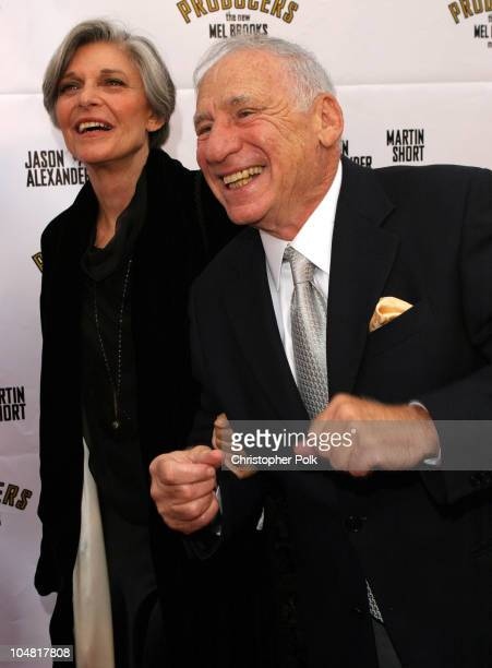Anne Bancroft and Mel Brooks during Opening Night of 'The Producers' at Pantages Theatre in Hollywood California United States