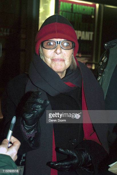 Anne Bancroft during Anne Bancroft Exits The Signature Theater After Attending a Perfomance of 'The Occupant' February 7 2002 at The Signature...