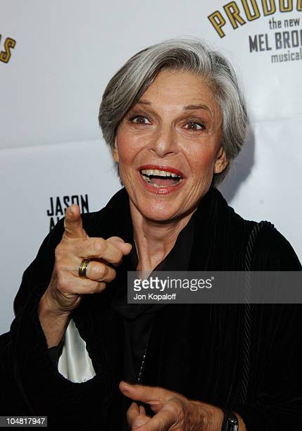 Anne Bancroft during Opening Night of 'The Producers' at Pantages Theatre in Hollywood California United States