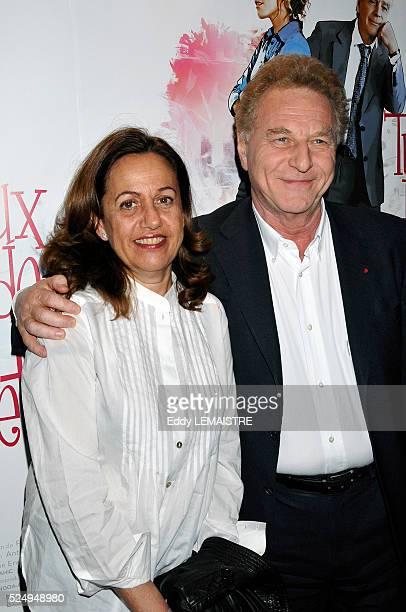 Anne Barrere and Robert Namias attend the premiere of Tu peux garder un secret in Paris