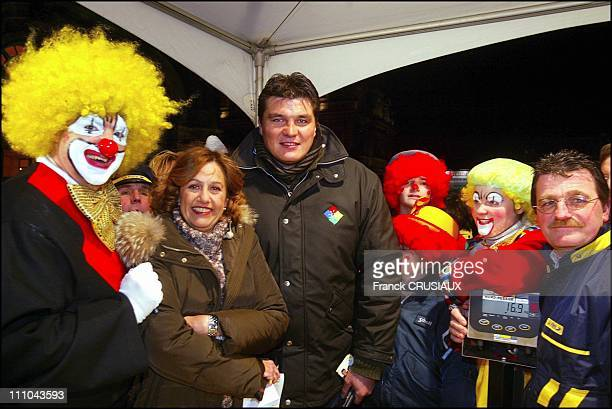 Anne Barrere at the TGV pieces jaunes 2004 operation in Valenciennes France on January 30 2004