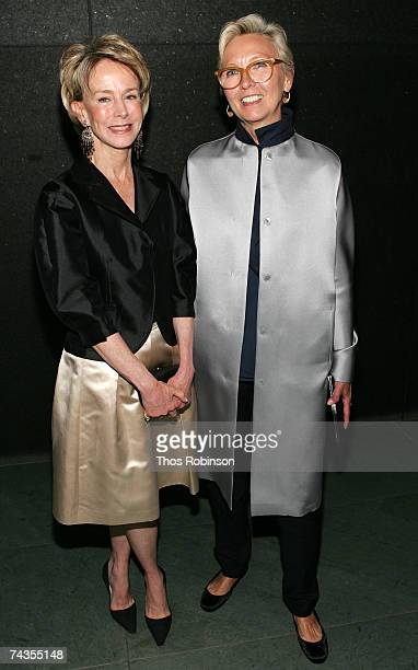 Anne Bass and Clara Serra attends the dinner for Richard Serra celebrating forty years at the Museum of Modern Art on May 29 2007 in New York City