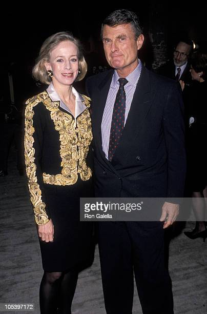 Anne Bass and guest during Art Pro Choice March 13 1990 at Brant Publication Building in New York City New York United States