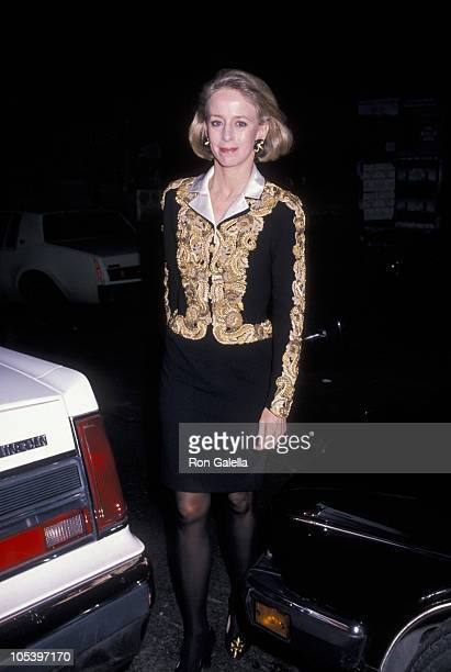 Anne Bass during Art Pro Choice March 13 1990 at Brant Publication Building in New York City New York United States