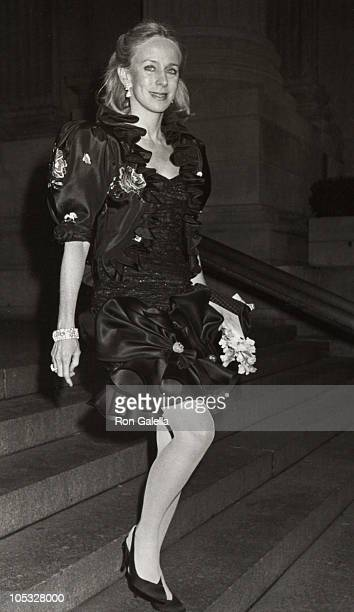 Anne Bass during Wedding Reception For Jonathan Tisch Laura Steinberg at Metropolitan Museum of Art in New York City New York United States