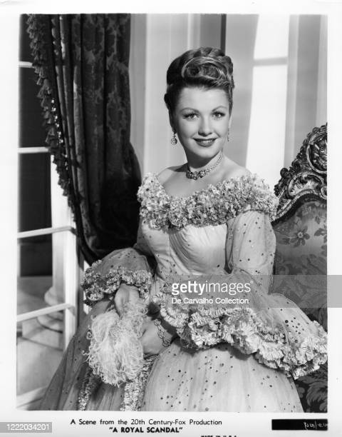 Anne Baxter as 'Countess Anna Jaschikoff' in a publicity shot from the movie 'A Royal Scandal' United States