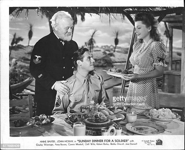 Anne Baxter John Hodiak In 'Sunday Dinner For A Soldier' With Charles Winninger Anne Revere Connie Marshall Chill V/Ills Robert Bailey Bobby Driscoll...
