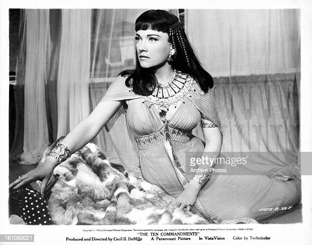 Anne Baxter reclines in a scene from the film 'The Ten Commandments' 1956