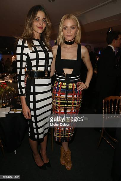 Anne Beatriz Barros and Jessica Stam attend the Annual Charity Dinner Hosted By The AEM Association Children Of The World For Rwanda At Espace Pierre...